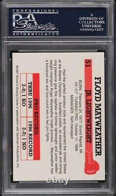 1997 Brown's Boxing Floyd Mayweather Jr. ROOKIE RC #51 PSA 9 MINT