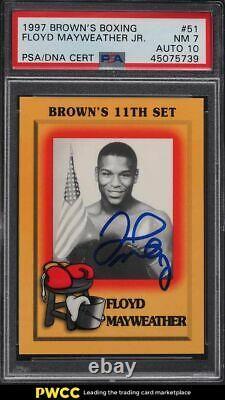 1997 Brown's Boxing Floyd Mayweather Jr. ROOKIE RC PSA/DNA 10 AUTO PSA 7 NRMT