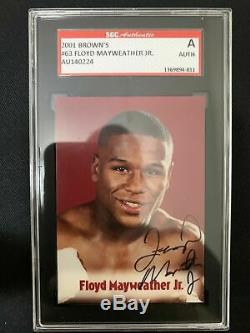 2001 Brown's Boxing Floyd Mayweather Jr 63 Signed Auto Rc Sgc Authentic Au140224