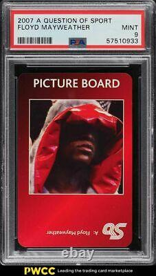 2007 A Question Of Sport Floyd Mayweather PSA 9 MINT