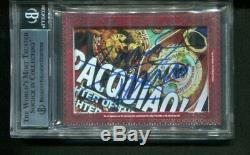 2012 Leaf Cut Signatures FLOYD MAYWEATHER MANNY PACQUIAO Dual Auto Autograph 1/1
