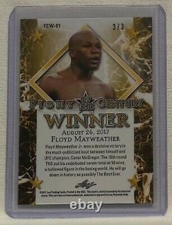 2017 Leaf Floyd Mayweather Fight of the Century Winner BLACK Parallel 3/3