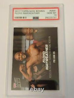 2017 TOPPS NOW BOXING #MM1 FLOYD MAYWEATHER vs CONOR McGREGOR PSA 10 GEM MINT