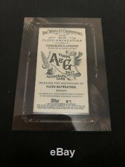 2017 Topps Allen & Ginter Autograph Floyd Mayweather card #MA-FM