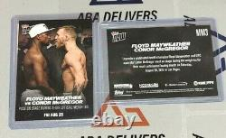 2017 Topps Now Floyd Mayweather Conor McGregor Face-Off #MM3 08.25.17