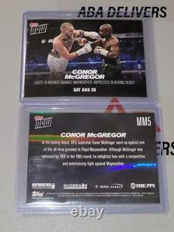 2017 Topps Now #MM1 MM2 MM3 MM4 MM5 #MMB1 Floyd Mayweather Conor McGregor PR-301