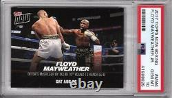 2017 Topps Now #MM4A Floyd Mayweather vs Conor McGregor PSA 10 POP 23