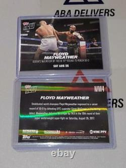 2017 Topps Now #MM4 Floyd Mayweather 50-0 vs Conor McGregor TKO in 10th 08.26.17