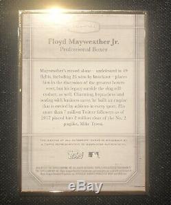 2017 Topps Transcendent FLOYD MAYWEATHER JR AUTO /25 Gold Autograph Legends SP