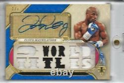 2017 Topps Triple Threads Floyd Mayweather Auto Relic Sapphire 1/3 SP