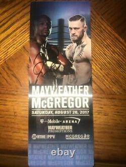 AUTHENTIC FLOYD MAYWEATHER CONOR McGREGOR UFC BOXING VIP TICKET 8/26/2017 SIGNED