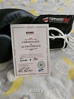 Anthony Joshua And Floyd Mayweather Champions Signed Boxing Glove. Inc
