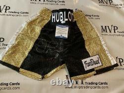 Beckett Authentic Floyd Mayweather Jr Autograph Size Medium Boxing Trunks 559