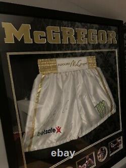 Conor McGregor Signed Boxing Trunks V Floyd Mayweather UFC MAYWEATHER KHABIB