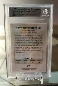 FLOYD MAYWEATHER JR #17 2010 Ringside Boxing Round 1 BGS 9 MINT RARE TMT