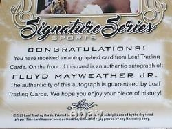 FLOYD MAYWEATHER JR 2020 Leaf Signature Sports AUTO 1/1 Signed Boxing Card RARE