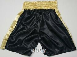 FLOYD MAYWEATHER JR. Autographed CLETO REYES Boxing Trunks. BECKETT WITNESSED