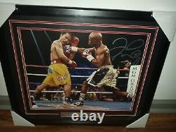 FLOYD MAYWEATHER JR. SIGNED FRAMED 16x 20 VS MANNY PACQUIAO WITH JSA COA