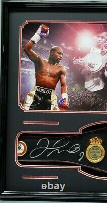FLOYD MAYWEATHER JR. Signed Autographed WBA BOXING BELT Frame. BECKETT WITNESSED