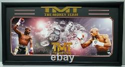 FLOYD MAYWEATHER JR. Signed PANORAMIC COLLAGE Photo Frame 43x24. BECKETT WITNESS