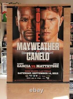 FLOYD MAYWEATHER JR vs. CANELO ALVAREZ Original MGM Onsite Boxing Fight Poster