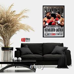 FLOYD MAYWEATHER JR vs. JOSE LUIS CASTILLO (1) Original HBO Boxing Poster 30D