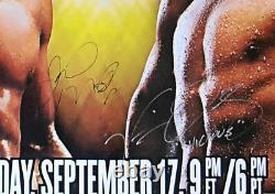 FLOYD MAYWEATHER JR vs. VICTOR ORTIZ DUAL SIGNED Original HBO Boxing Poster