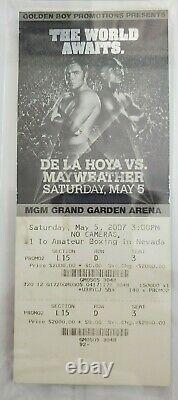 FLOYD MAYWEATHER vs. OSCAR DE LA HOYA THE WORLD AWAITS 2007 TICKET, PSA GRADED