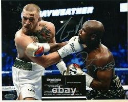 Floyd Mayweather And Conor mcgregor Signed Auto 8x10 w COA 450