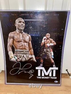 Floyd Mayweather Autograph Signed Boxing 16x20 custom edit photo Beckett COtogra
