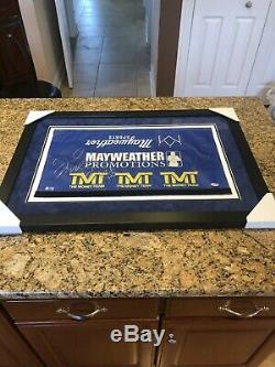 Floyd Mayweather Autographed 50-0 Record Fight Framed Used Boxing Ring Rope PSA