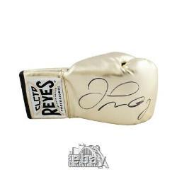 Floyd Mayweather Autographed Cleto Reyes Gold Boxing Glove BAS COA