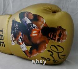 Floyd Mayweather Autographed Gold TBE Image Custom Boxing Glove Beckett Authen