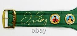 Floyd Mayweather Autographed Green WBC Boxing Belt Beckett Auth Gold