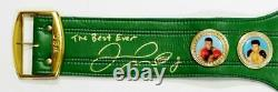 Floyd Mayweather Autographed Green WBC Boxing Belt with Insc Beckett Auth Gold