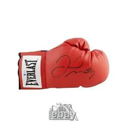 Floyd Mayweather Autographed Red Everlast Boxing Glove BAS COA