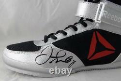 Floyd Mayweather Autographed Reebok Boxing Shoe Left Beckett BAS Black