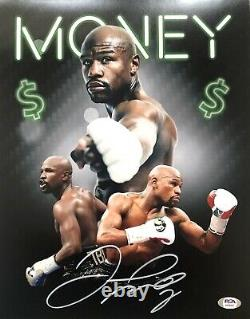 Floyd Mayweather Autographed/Signed 8X10 Money Photo PSA Signed In Silver