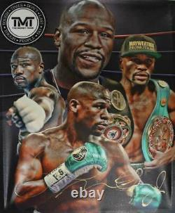 Floyd Mayweather Autographed/Signed Boxing 20x24 Canvas 26372
