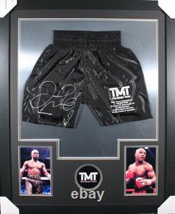 Floyd Mayweather Autographed/Signed Framed Black Trunks BAS 20178