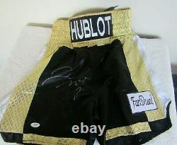 Floyd Mayweather Autographed Signed HUBLOT FanDuel Boxing Trunks PSA / DNA