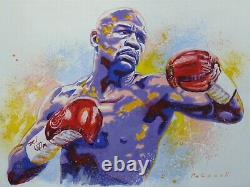Floyd Mayweather BOXER BOXING Original Acrylic Painting Contemporary Art