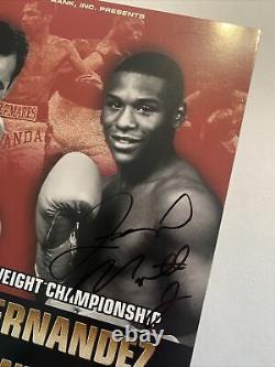 Floyd Mayweather-Genaro Hernandez 1998 Program Signed by Mayweather/His1st Title
