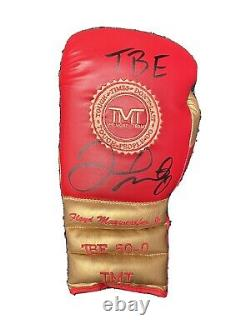 Floyd Mayweather Hand Signed Boxing Glove TMT TBE RARE COA AFTAL