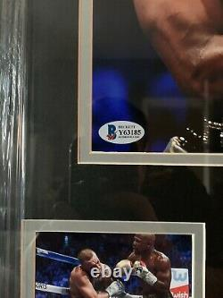 Floyd Mayweather Hand Signed, Framed Boxing Photo With Beckett Coa