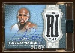Floyd Mayweather Jr 2017 Topps Dynasty 1/1 Autograph Jumbo Patch Logo Amazing