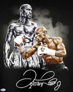 Floyd Mayweather Jr. Authentic Autographed Signed 16x20 Photo Beckett Bas 159716