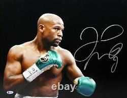 Floyd Mayweather Jr. Authentic Signed 16X20 Photo Autographed BAS Witnessed
