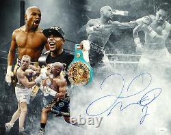 Floyd Mayweather Jr. Autographed 16x20 Photo Pacquiao & McGregor JSA WPP642517