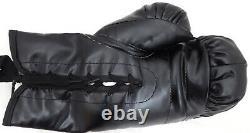 Floyd Mayweather Jr. Autographed Black Everlast Boxing Glove Lh Jsa 178335